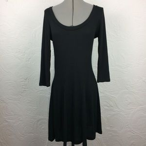 NWT Francesca's Miami black knit stretch dress-L